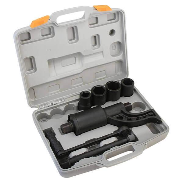 Torque Multiplier Lug Wrench Remover - 1 Drive Lug Nut Tool 4 Sockets