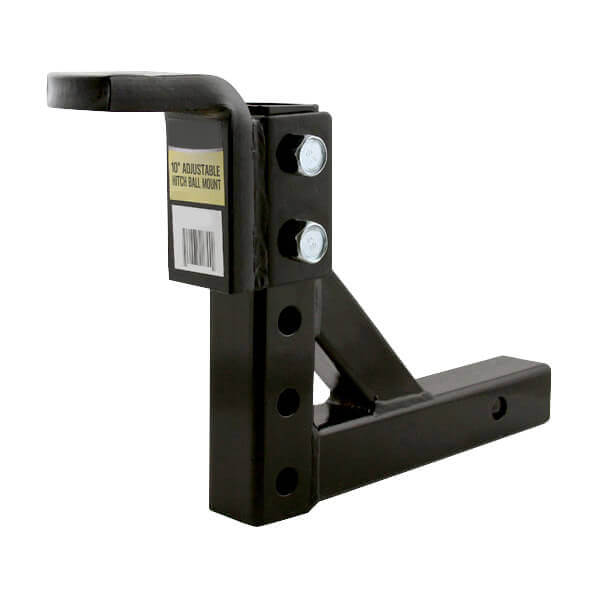 Adjustable Height Trailer Hitch - 10 Inch Ball Mount Drop Height