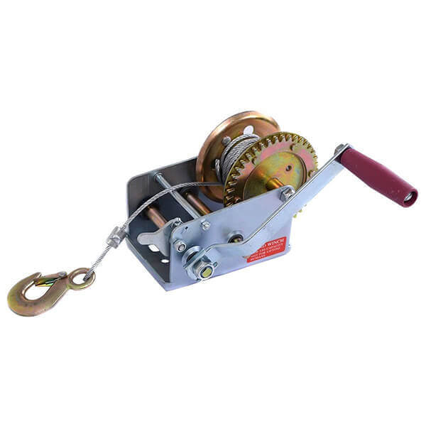 Hand Winch - Cable Winch 2500 lb 2 Way Hand Crank