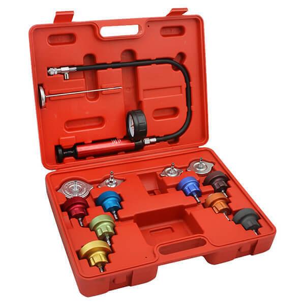 Radiator Cap Pressure Tester Set | 14 pc Automotive Cooling System Kit