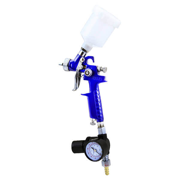 Mini HVLP Paint Spray Gun Sprayer with Gauge
