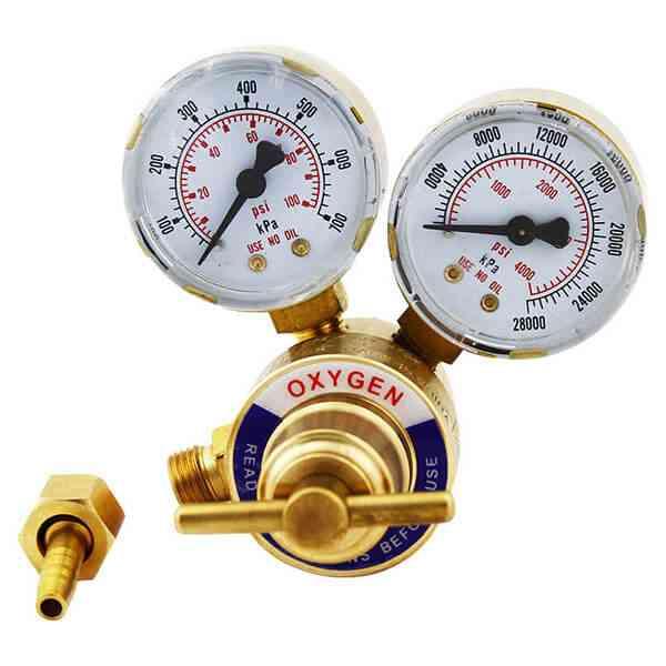Oxygen Regulator Welding Gauge Tank Pressure Dual Dial Victor Type