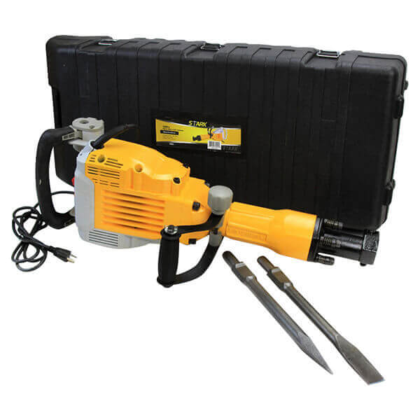Demolition Jack Hammer with Chisel and Point 3600 Watt Electric Motor