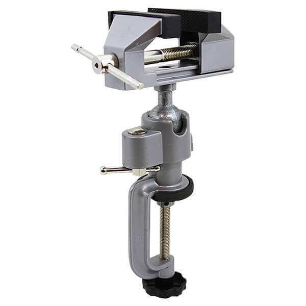 Bench Vise Swivel Clamps to Workbench with 3 Inch Clamp