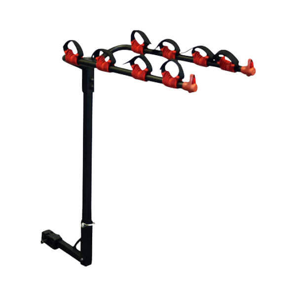 Bike Rack With Trailer Hitch Mount for Four Bicycles on Car Truck SUV