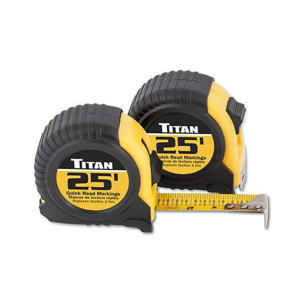 Titan Tools 25 Foot 2 Pack Tape Measure 10901