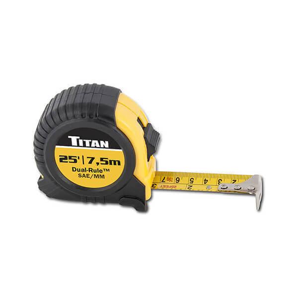 Titan Tools 25 Foot Dual Rule Tape Measure 10907