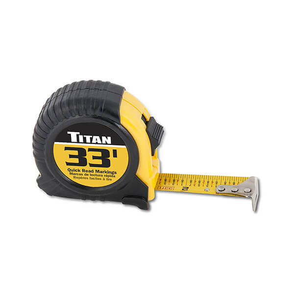Titan Tools 33 Foot Tape Measure 10908