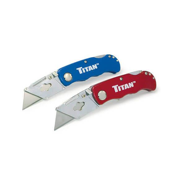 Titan Tools Folding Utility Knife - Twin Pack 11020