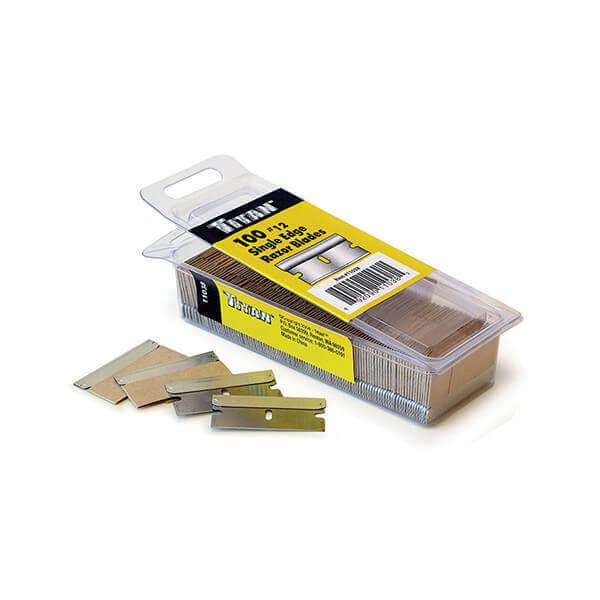 Titan 100 Pack Single Edge #12 Razor Blades 11038