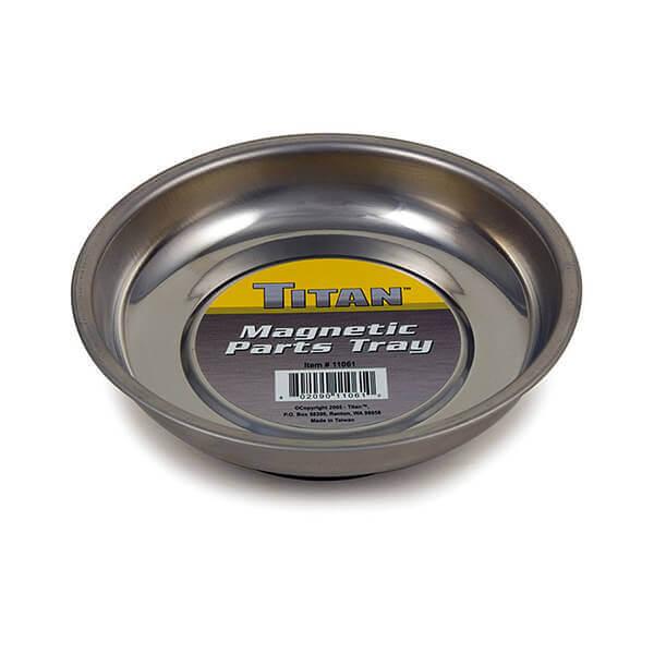 "Magnetic Tray 4-1/4"" Parts Storage Bowl Rubber Magnet Base Titan 11061"