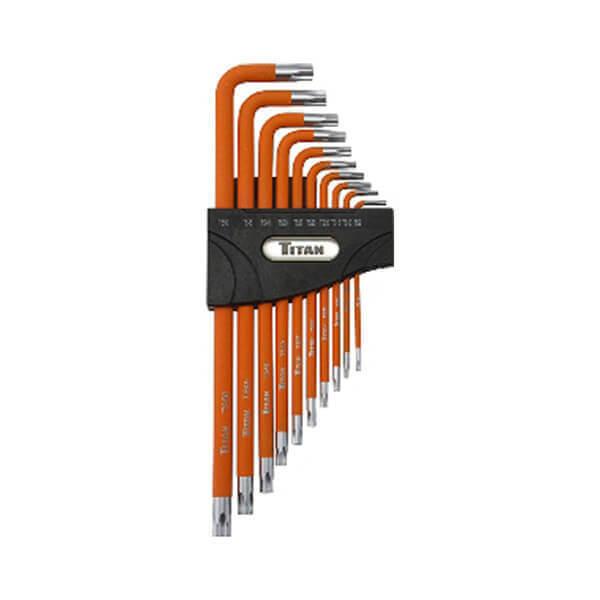 Titan Tools 10 Pc Tamper Resistant 5-Lobe Key Set 12734