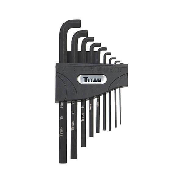 Titan Tools 9 Pc Metric Stubby Hex Key Set 12738