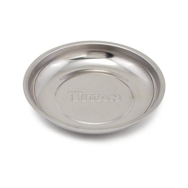 Titan Tools 5-7/8 Inch Round Magnetic Parts Tray 21264