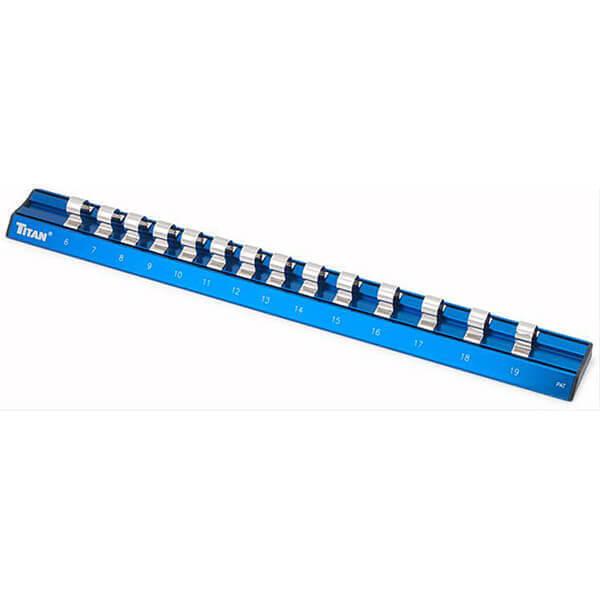 Titan Tools 38098 Metric Magnetic Anodized Socket Rail