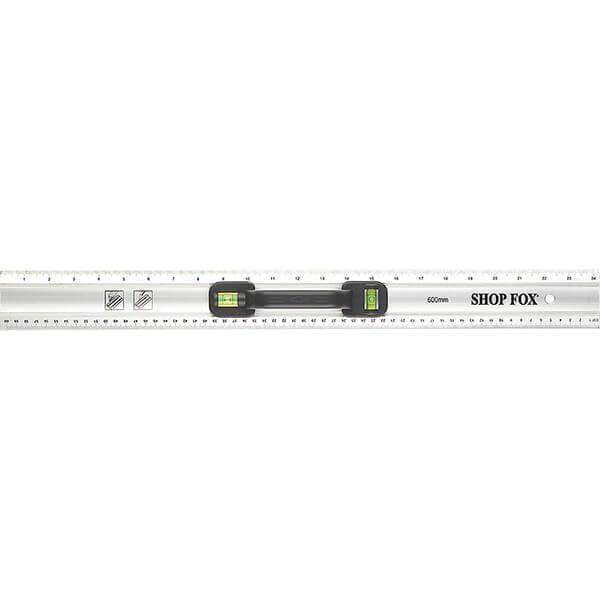 Shop Fox 24 Inch Aluminum Bubble Ruler with Handle D3197