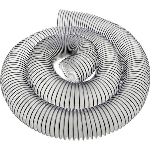 "Shop Fox 2-1/2"" 10' Clear Wire Reinforced Dust Collection Hose D4555"