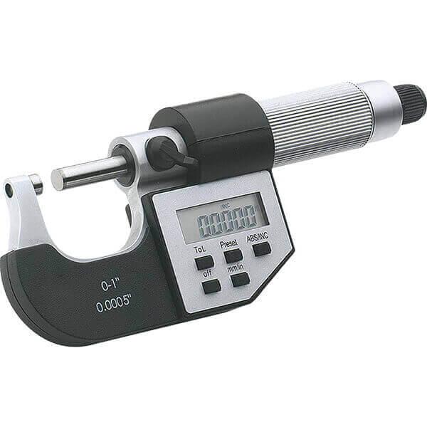 Steelex Digital Micrometer 0 - 1 Inch Electronic LCD M1083