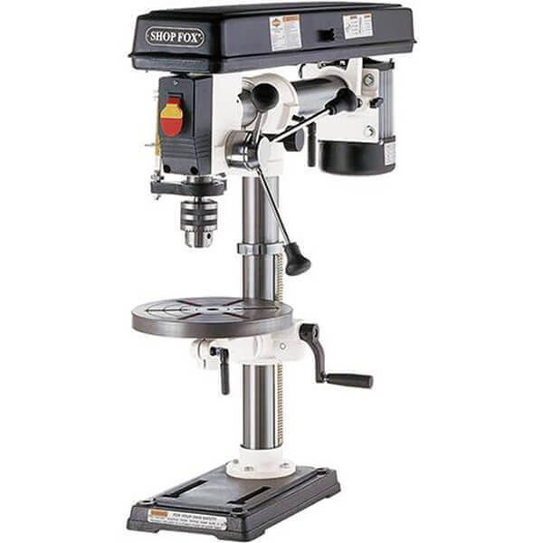 Shop Fox 1/2 HP 34 Inch Bench Top Radial Drill Press W1669