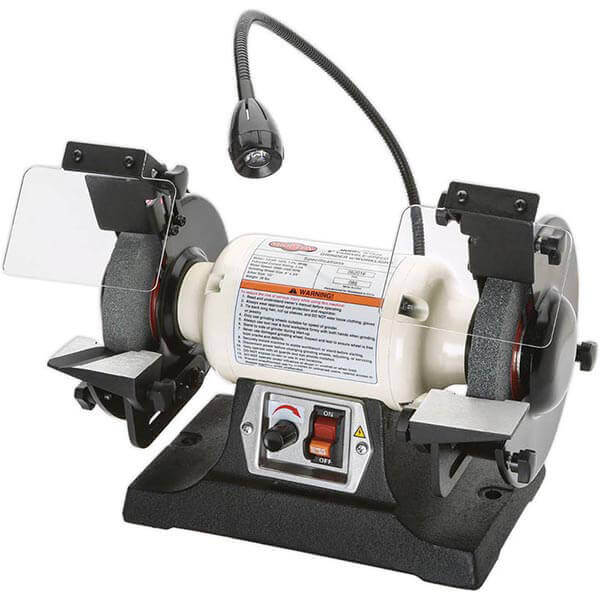 """6"""" Variable Speed Bench Grinder with Work Light Shop Fox W1839"""