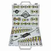 45 piece Metric Titanium Tap and Die Set with Case 00915A