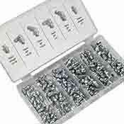 110 pc Hydraulic Grease Fitting Fittings Zerk Set SAE Standard