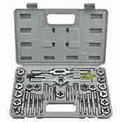 Neiko 40 pc. SAE High Alloy Steel Tap and Hexagon Die Set 00909A