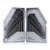 Allen Wrench Hex Key Set 30 piece SAE Standard and Metric Combination