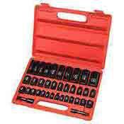 Neiko Tools 38 piece Impact Socket Set Duometric Combination 02443A