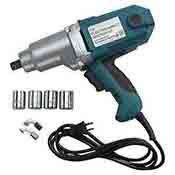 1/2 Inch Electric Impact Wrench Kit with 4 Metric Sockets