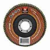 "Neiko Tools USA 4-1/2"" 40 Grit Beveled Aluminum Oxide Flap Disc | 10 pack"