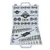 Tap and Die Set 45 Pc. SAE Standard Alloy Steel with Case