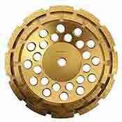 7 Inch Diamond Grinding Wheel For Concrete Double Row 7/8-5/8 Arbor
