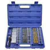 Wire Brush Set Long Reach Industrial Machine Engine Cleaning 38 Pc.