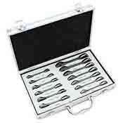 13 Pc Combination Ratcheting Wrench Set Duo Metric Stubby