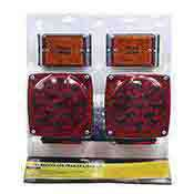Trailer Light 12 Volt Submersible LED Kit Tail Lights and Side Markers
