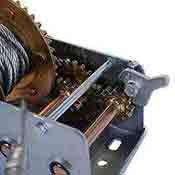 2500 lb 2 Way Hand Crank Cable Winch