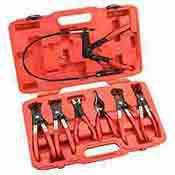 7 Pc. Flexible Hose Clamp Plier Set