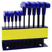 10 Pc. T Handle Hex Key Allen Wrench Set SAE