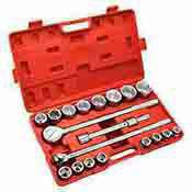 21 Pc. 3/4 Drive Metric Ratchet and Socket Wrench Set