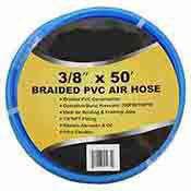 3/8 Inch x 50 Ft Braided PVC Air Hose