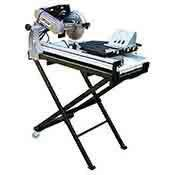 """Tile Saw Cutter 10 Inch Wet Cutting Blade 27"""" Rip Laser Stand Tray"""