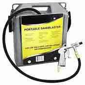 Portable Sandblaster Small Air Hand Held Sand Blaster 30 lb. Capacity