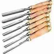 Shop Fox 7 Pc. Gouge Chisel Set Chrome Vanadium Steel D3780
