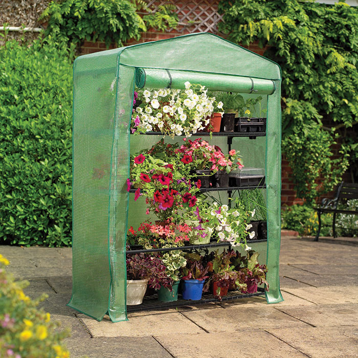 Extra Wide 4 Tier Greenhouse