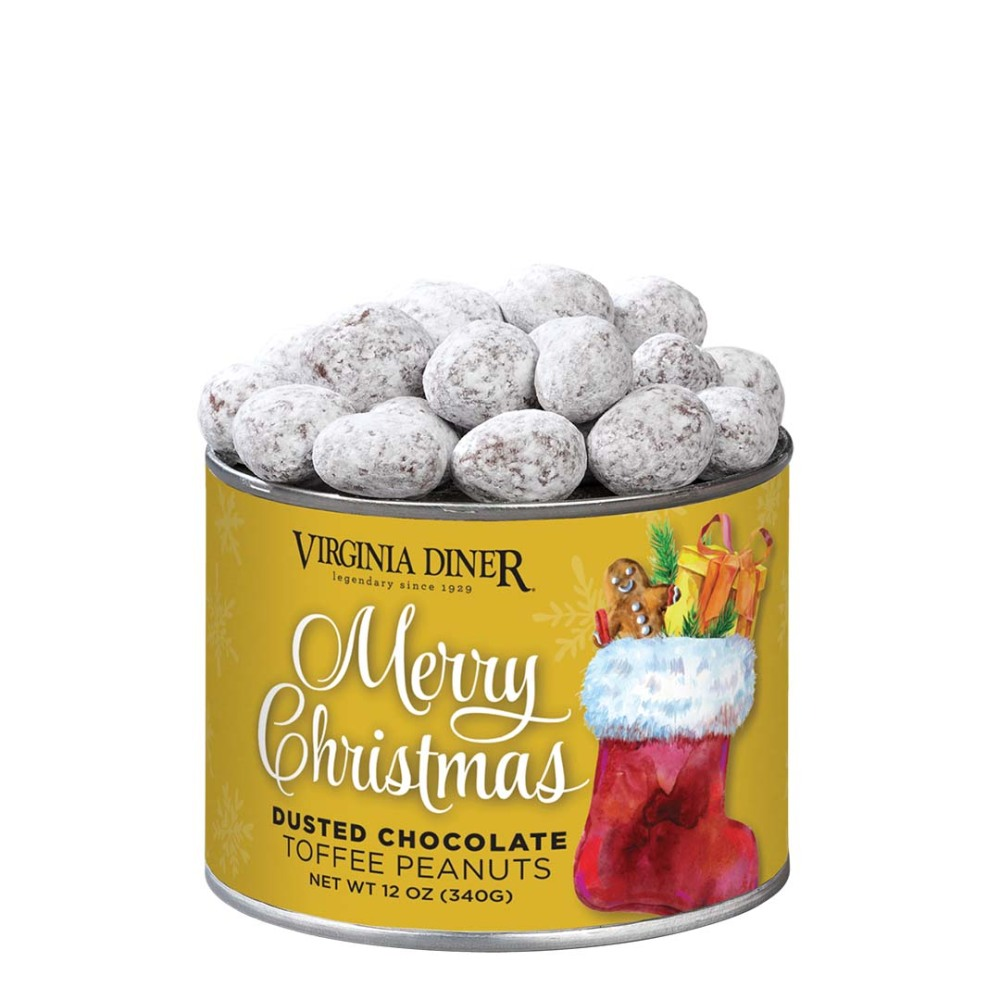 Merry Christmas Dusted Chocolate Toffee Peanuts