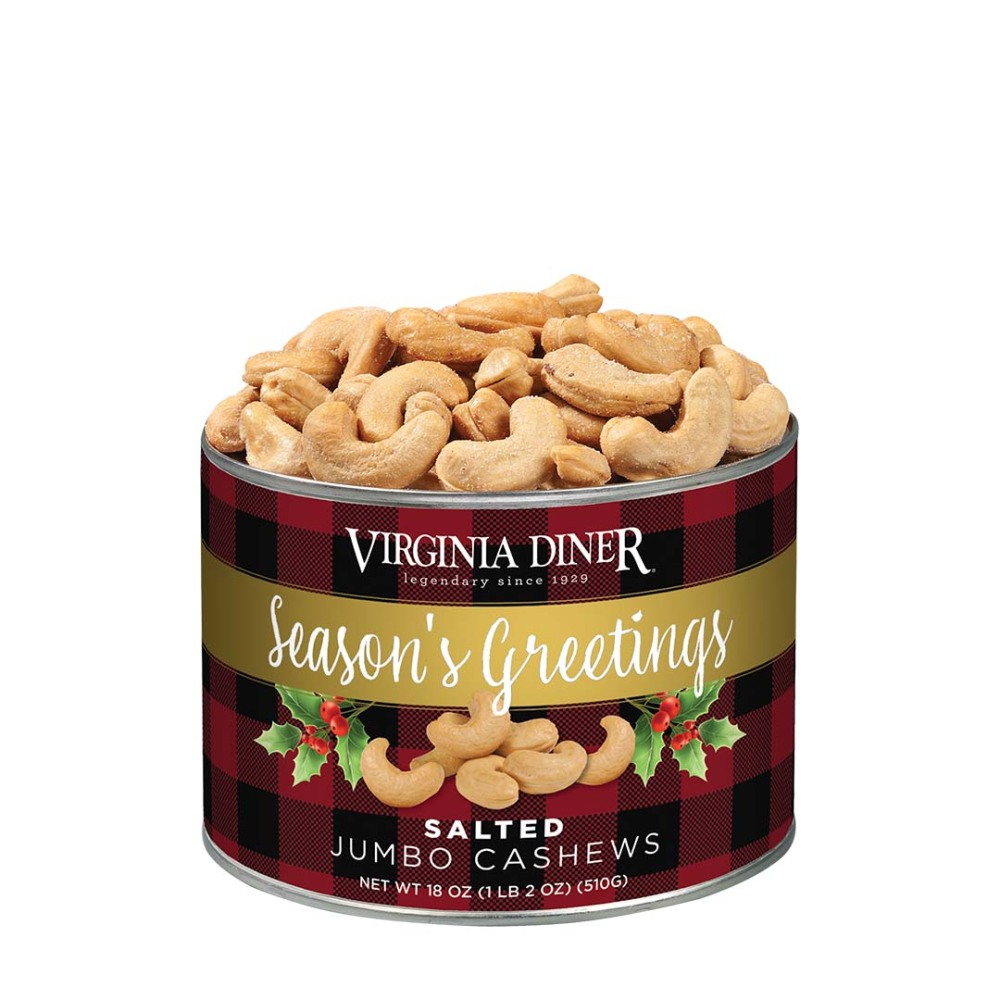 Season's Greetings Salted Jumbo Cashews 18 oz.