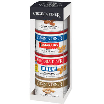 Tower of Traditions Peanut Gift Set- Salted, Zatarain's Spicy Cajun®, Butter Toasted, Old Bay®