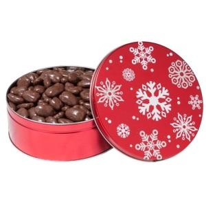 Festive Chocolate Pecan Holiday Tin 3 lbs