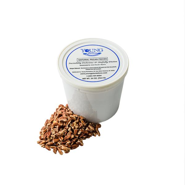 Natural Pecan Pieces Tub